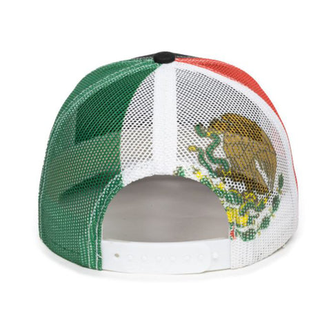 Sublimated Mesh United States Mexico Texas Curved Visor 6 Panel Snapback Trucker Hat Cap
