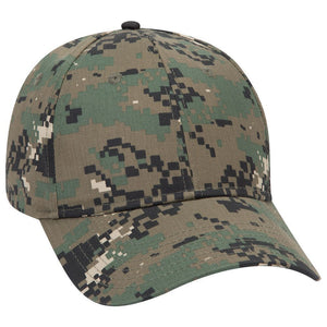 Digital Camouflage Cotton Blend Twill Six Panel Low Profile Baseball Cap