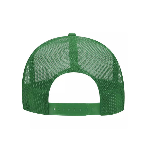 5 Panel High Crown Polyester Foam Front Mesh Back Trucker Hat (Tri-Tone)
