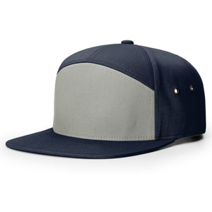 Richardson 7 Panel Twill Leather Strapback
