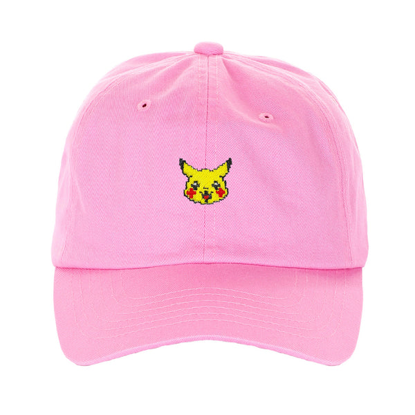Exclusive Embroidered Pixelated Pokemon Pikachu Characters Dad Hat