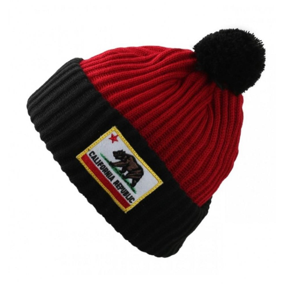4d70b365243 California Cuffed Thick Ribbed Knit Pom Beanie  HATS  HATS