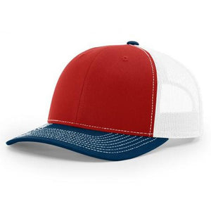 c0b92b7bc06d7 Richardson Twill Mesh Back Trucker Hat with Contrast Stitching and  Adjustable Plastic Snapback