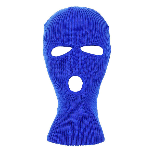 Winter Acrylic Knitted 3-Hole Ski Mask