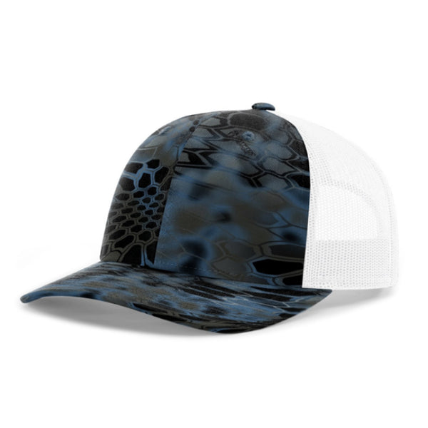 Richardson Twill Mesh Back Printed Trucker Hat with Adjustable Plastic Snap