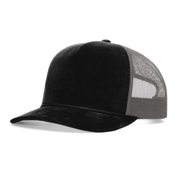 Richardson Unstructured Cotton Mesh Trucker Hat w/ Adjustable Snapback