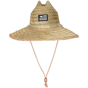 High Quality Natural Straw Hat with Bear Patch (2 Patch Styles)