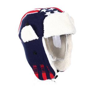 US Flag Winter Unisex Knit Trooper Hat