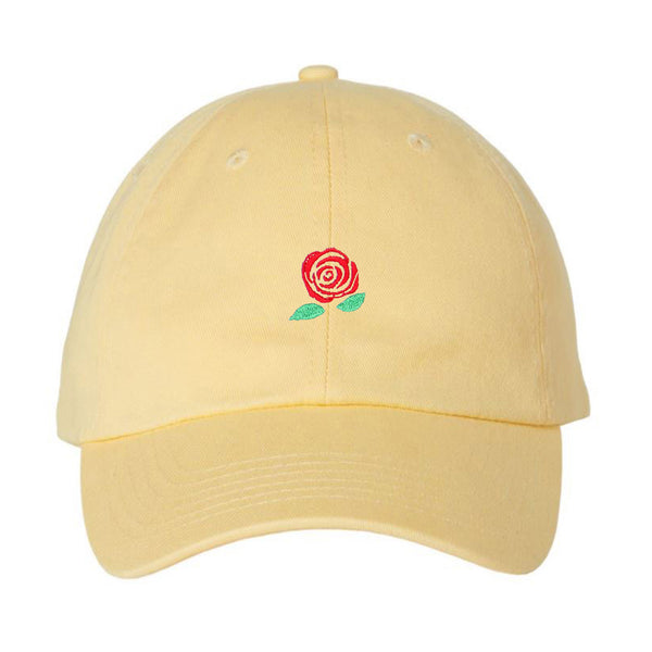 Embroidered Valentines Day Gift Rose Unstructured Strapback Baseball Cap