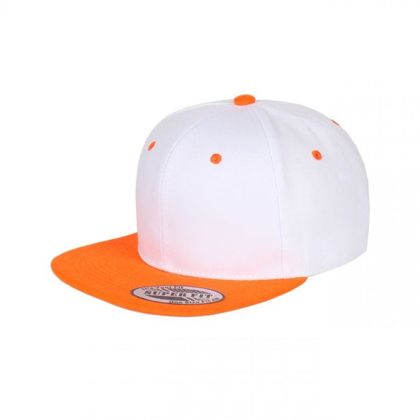 Two-Tone Blank Adjustable Flat Bill Plain Snapback Hats - More Colors 98651b35b68a