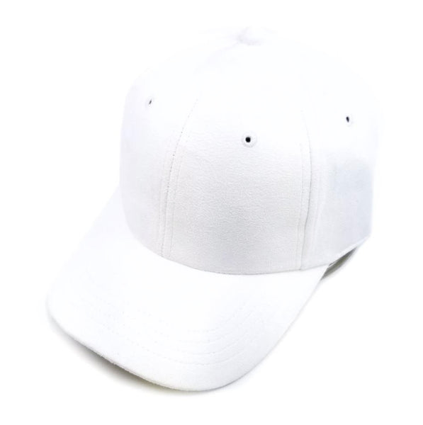 6-Panel Suede Low Profile Strapback Dad Hat Baseball Cap w/ Curved Visor