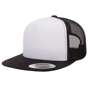 Flexfit Yupoong Classic White Front Panel Adjustable Trucker Cap