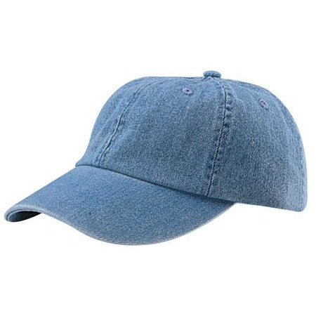 Low Profile Unstructured Denim Garment Washed Cap