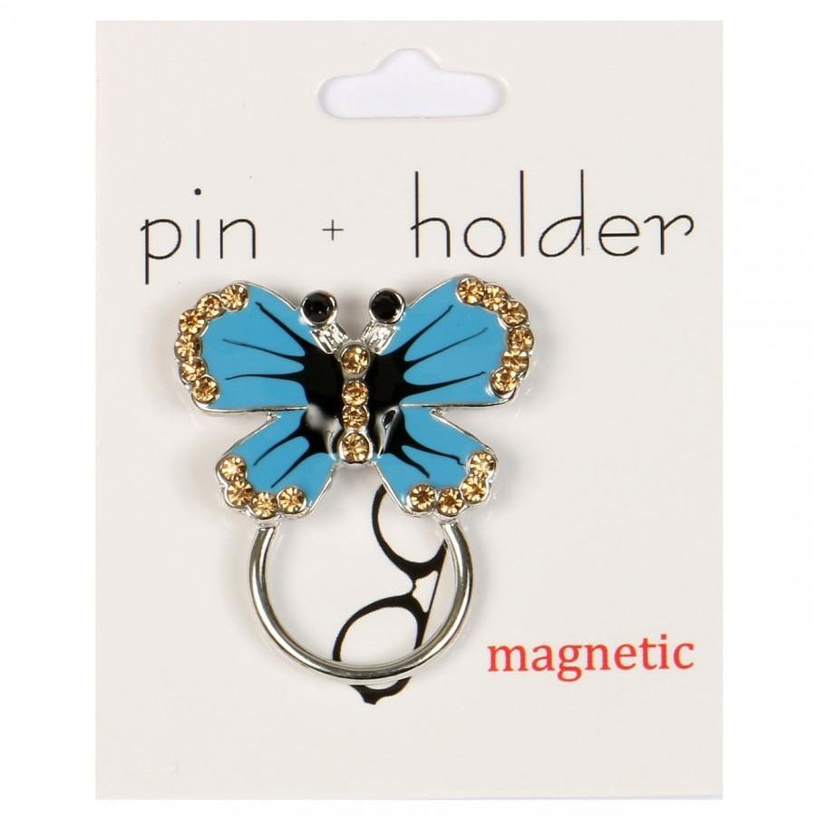 PIN + HOLDER - Butterfly  Magnetic Decorative Pin & Eyeglass Holder