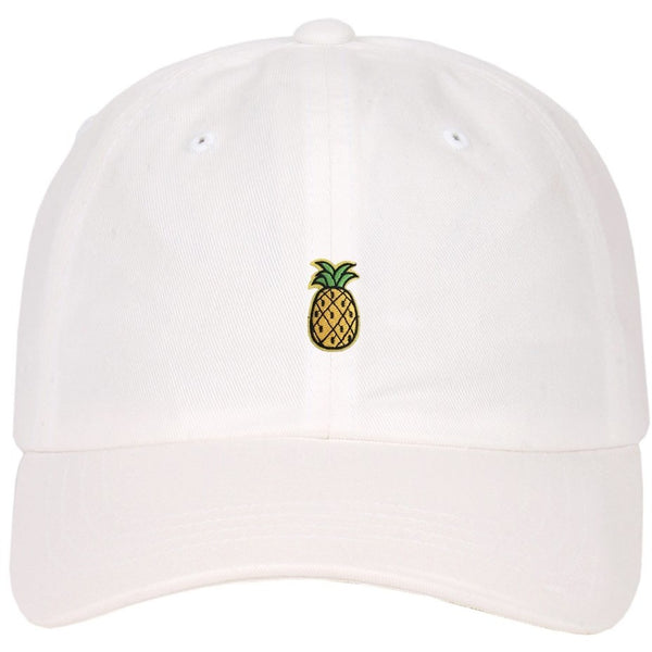 Embroidered Pineapple Logo on Low Profile Strapback Dad Hat