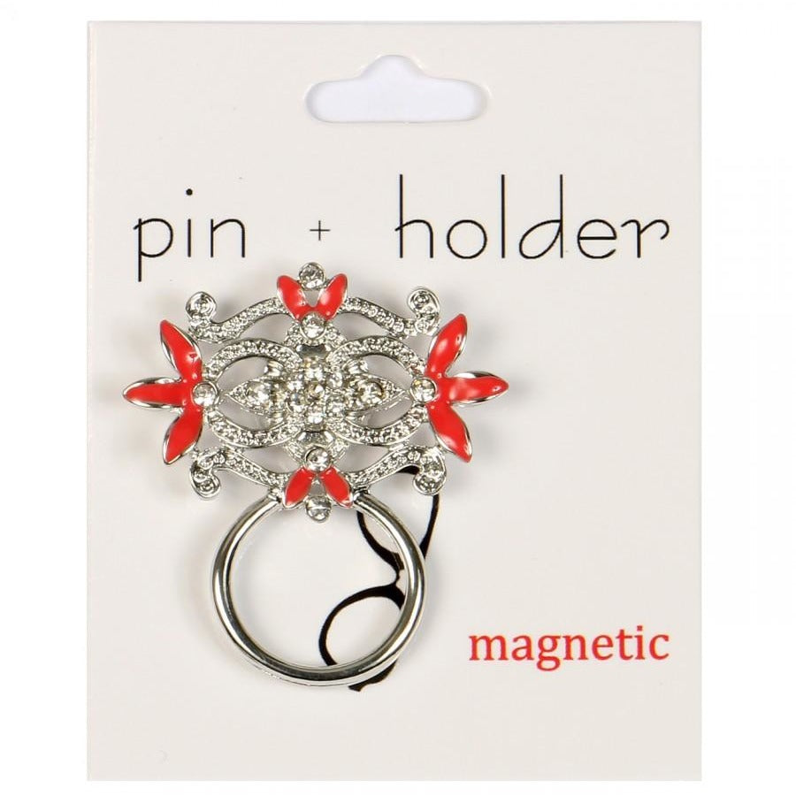 PIN + HOLDER - RedGem Magnetic Decorative Pin & Eyeglass Holder
