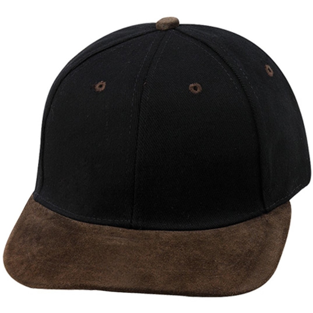 Low Profile Heavy Brushed Cotton Twill Flat Bill Strapback Hat