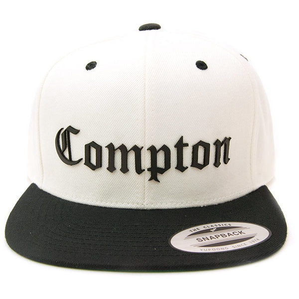 Compton Leather Cut Out Patch on Flexfit Yupoong Classics
