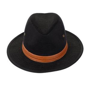 Washed Cotton Twill Fedora Hat
