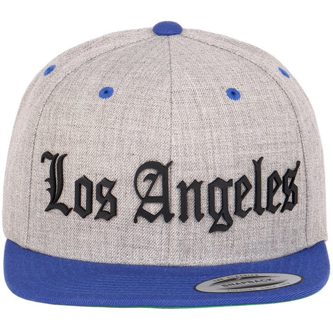 Los Angeles Leather Cut Out Patch on Flexfit Yupoong Classics