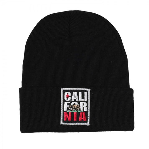 California Patch Cuffed Knit Beanie - More Colors