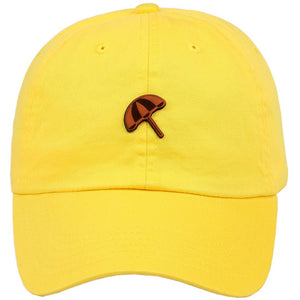 Umbrella Leather Cut Out Patch on Unstructured Dad Hat