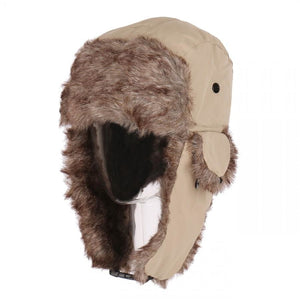 Wholesale Winter Unisex Knit Trooper Hat w/ Faux Fur Trim