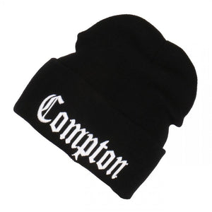 Embroidered Compton Beanie