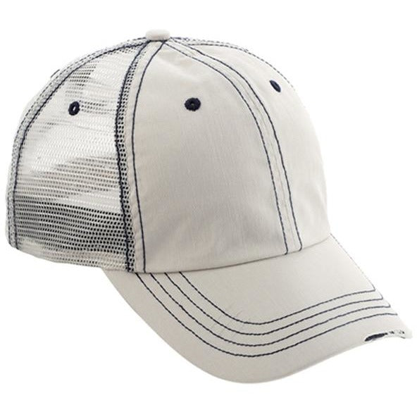 Low Profile Herringbone Cotton Twill Soft Mesh Hats