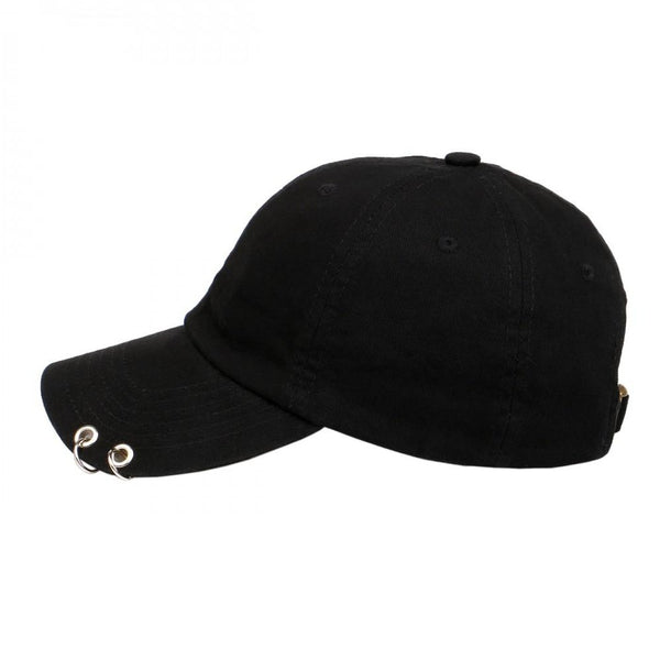 Grommet and Ring on Unstructured Dad Hat Strapback