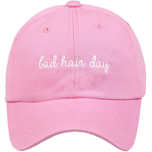 Embroidered Bad Hair Day Logo on Unstructured Dad Hat