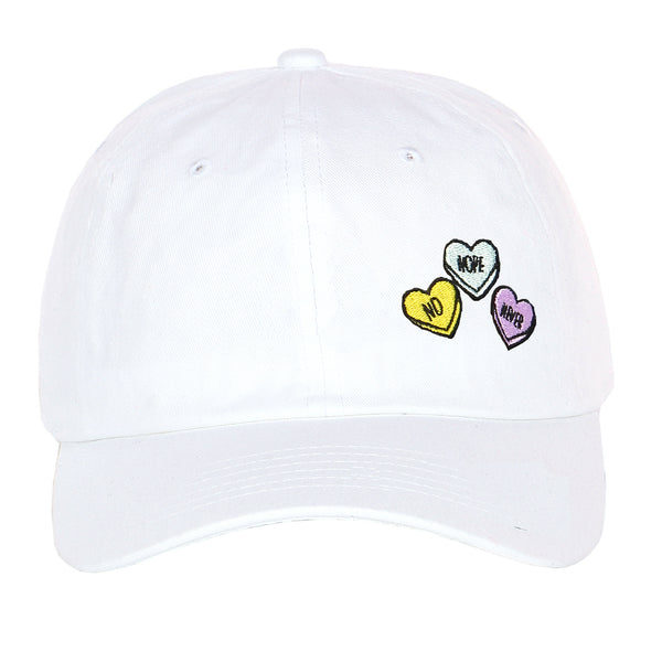 Embroidered Candy Heart Sweet Love Adjustable Dad Hat Strapback