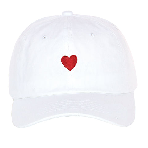 Embroidered Simple Red Heart love valentine's day gift dad hat