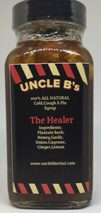 UNCLE B's  (The Healer)100%  all natural  Cold, Cough, & Flu  Syrup  6oz