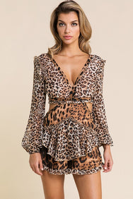 CHEETAH GIRL ROMPER