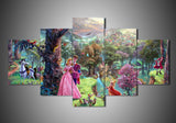 5-Piece Canvas Wall Art - Disney - Sleeping Beauty (3 Styles) - TheSevenShop