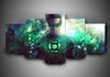 Green Lantern (3 Styles) - 5-Piece Canvas Wall Art