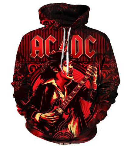 All Over Print Hoodie/Tee/Sweatshirt/Tank Top - AC/DC - Band - TheSevenShop