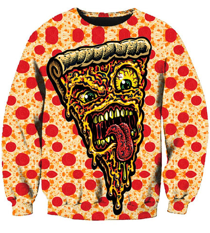 Pizza (2 Styles) - 3D Hoodie, T shirt, Sweatshirt, Tank Top