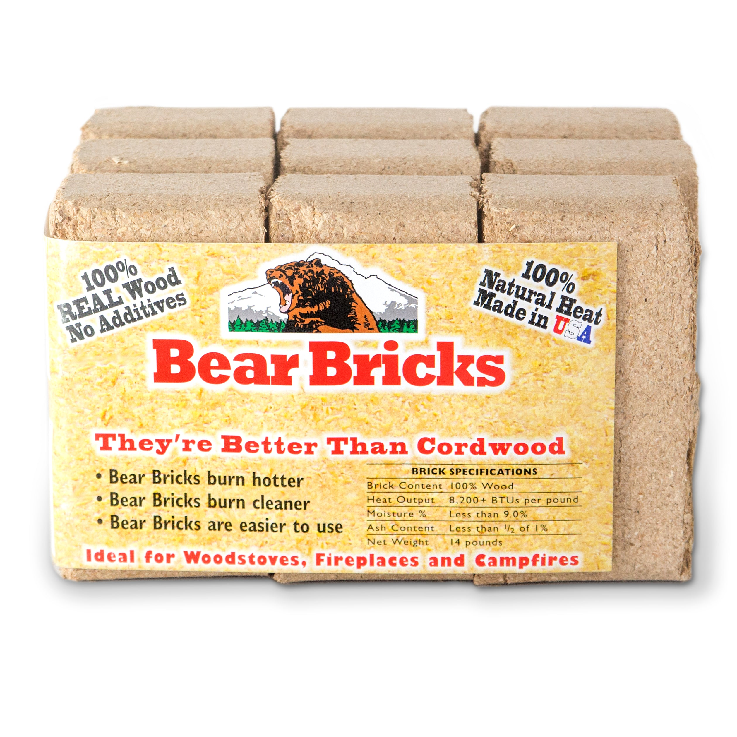 Bear Mountain® Small Fire Bricks 9-Pack