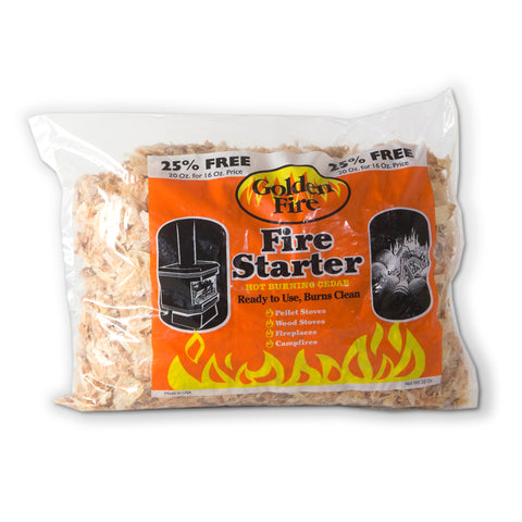 Golden Fire Wood Fire Starter Flakes