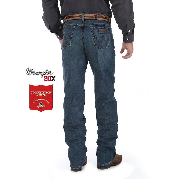 Wrangler Mens 20X Competition Relaxed Jean, River Wash - 01MWXRW