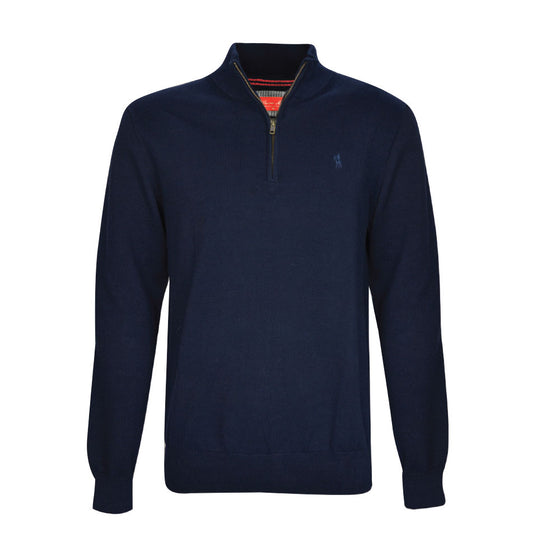 Thomas Cook Mens Louie 1/4 Zip Neck Jumper Deep Navy