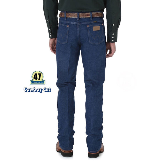Wrangler Mens Original Slim Fit Jean Prewashed