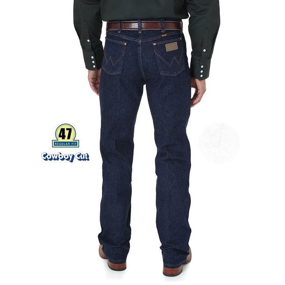 Wrangler Mens Cowboy Cut Stretch Reg Fit Jean Navy