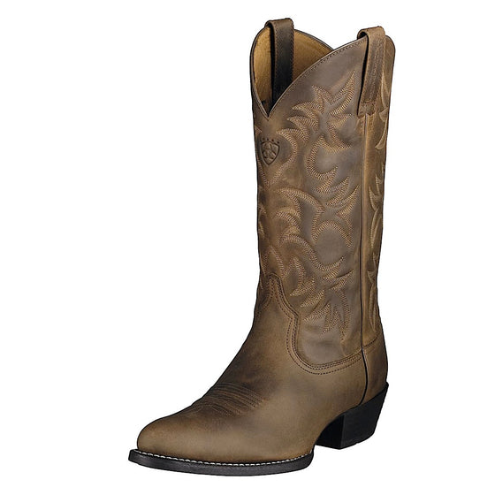 Ariat Mens Heritage Western R-Toe Distressed Brown