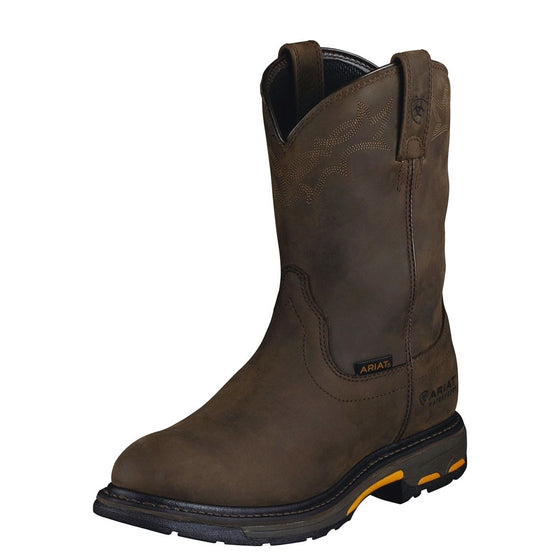 Ariat Mens Workhog Pull On H20 Oily Distressed Brown