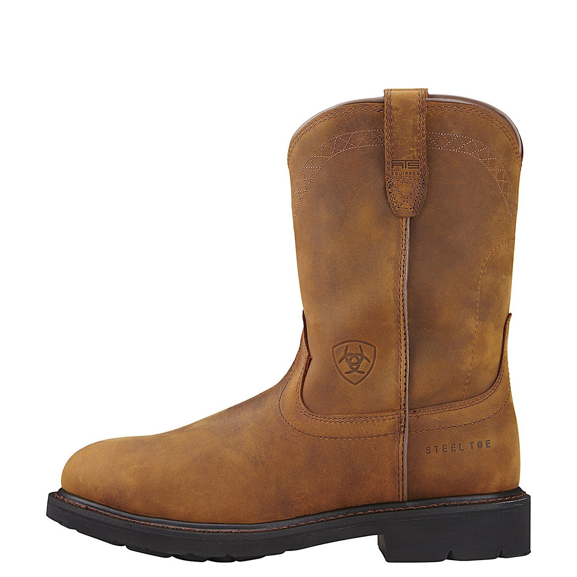 Ariat Kid's Workhog Pull on Boots Brown