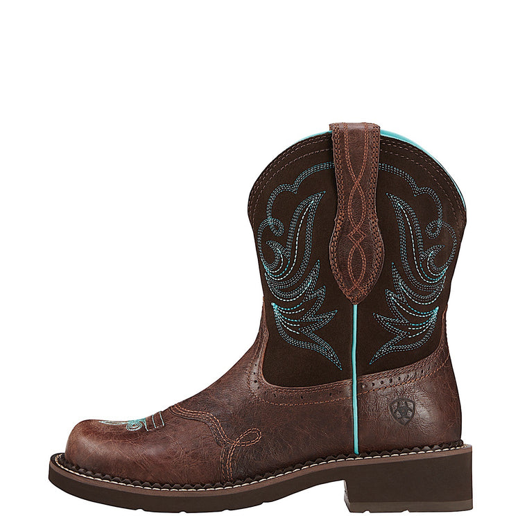 Ariat Women's Fatbaby Heritage Western Boot Dapper Royal Chocolate/Fudge