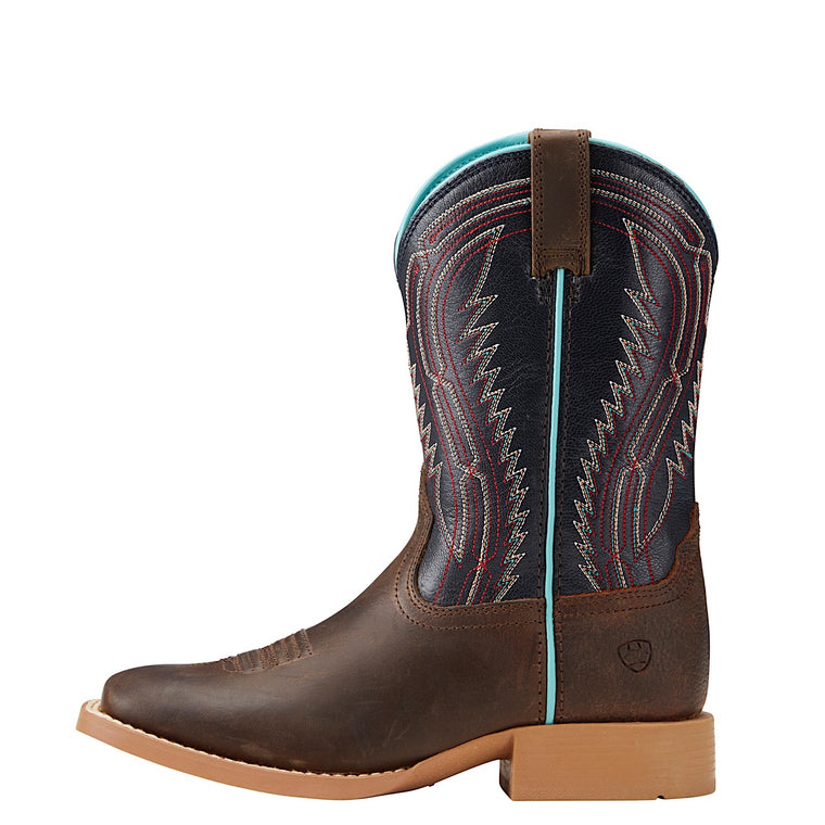 Ariat Kids Chute Boss Distressed Brown/Old Blue